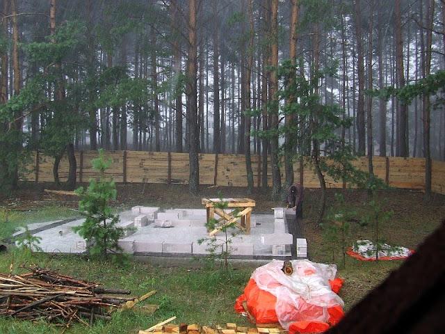 Кладка под дождем