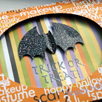 halloween crafts: 10 minute trick or treat! card