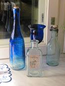 Mina blå flaskor
