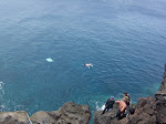 Snorkeling off a big cliff