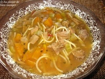Au plaisir de bien manger ma soupe aux l gumes poulet et nouilles - Consomme de boeuf maison ...