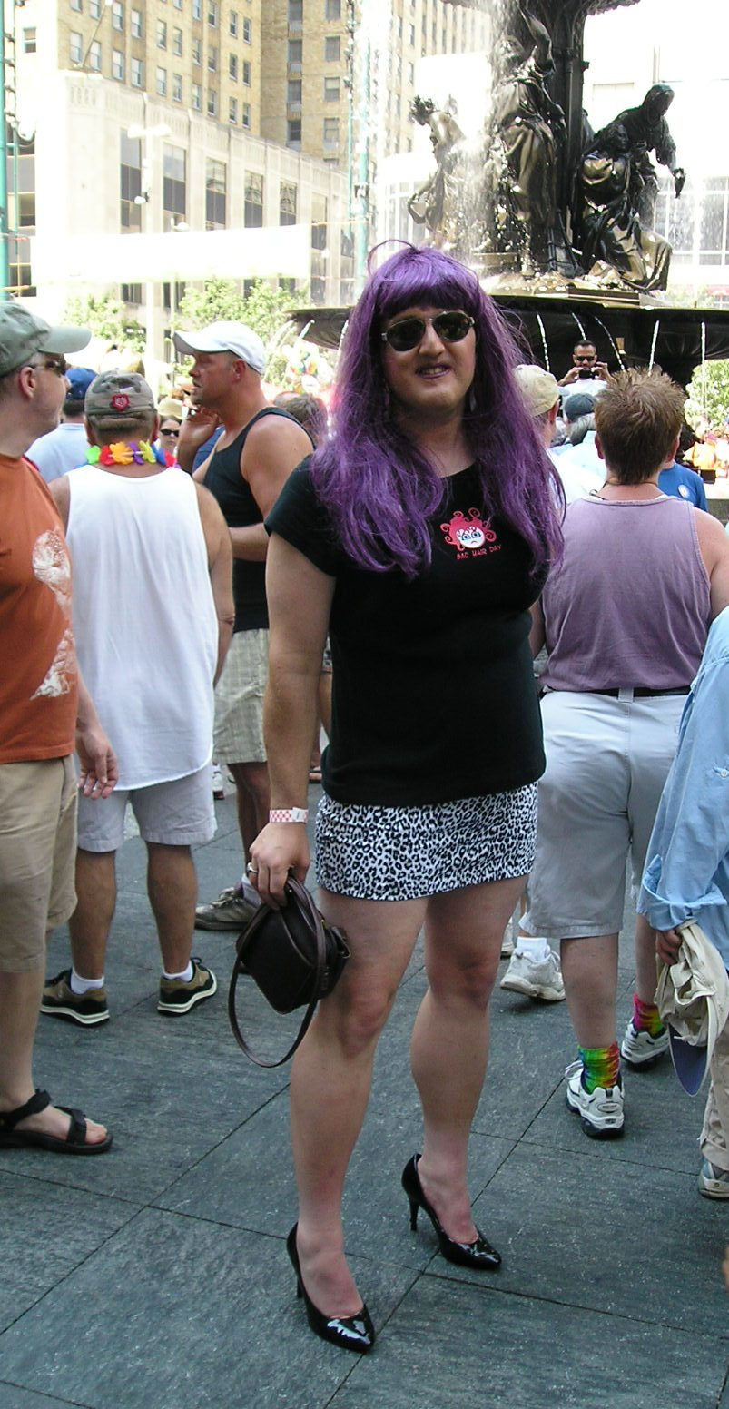 Why the club wear? I usually go to Pride events and dress ...