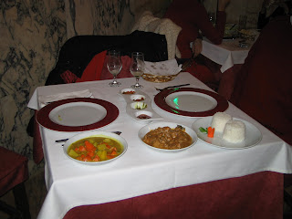 Curry vegetal y curry de pollo en el Sabor de Ceilán