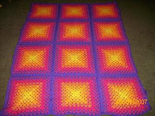 Crochet Round Afghan - Spectrum Afghan - YouTube