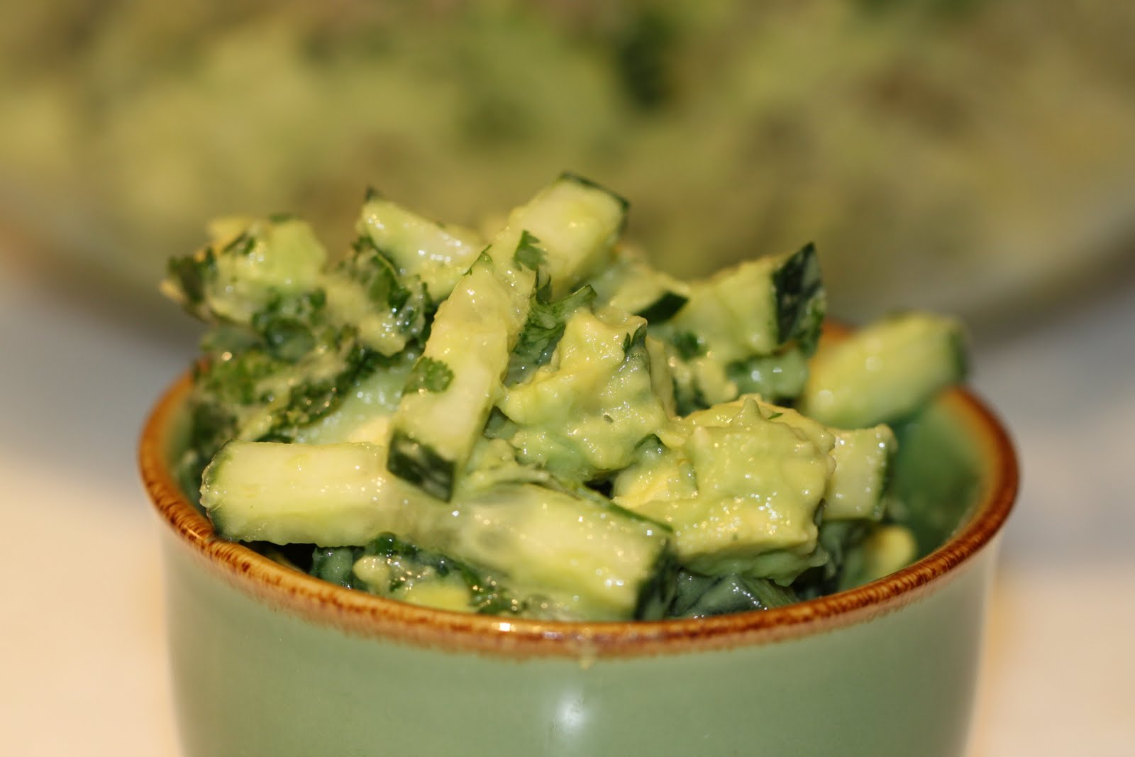 Shelly's Belly: Cucumber Avocado Salad