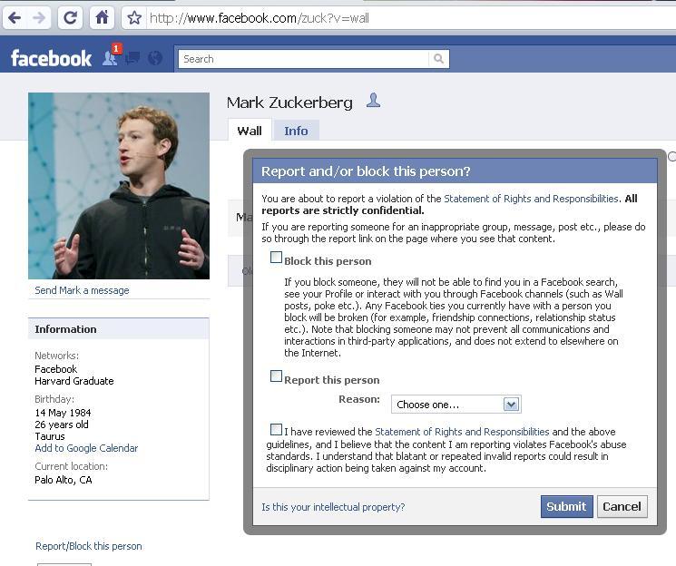 Mark Zuckerberg Friend. Now let#39;s try to block Mark .