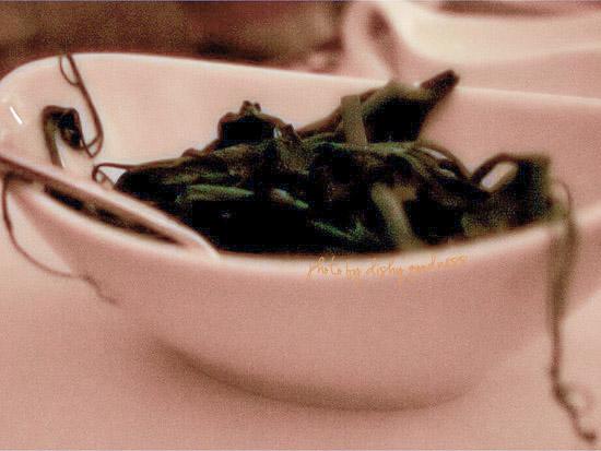 SIDE DISH: Sauteed Pea Tendrils