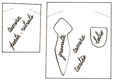 moldes+camisa Lembrancinha em E.V.A. para o Dia do Papai para crianças