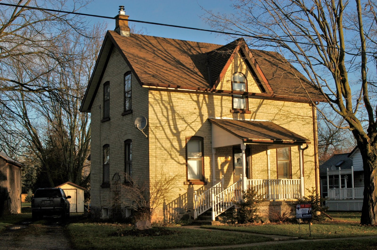 You Could Be The New Owner Of This Simple Yellow Brick Gothic Revival