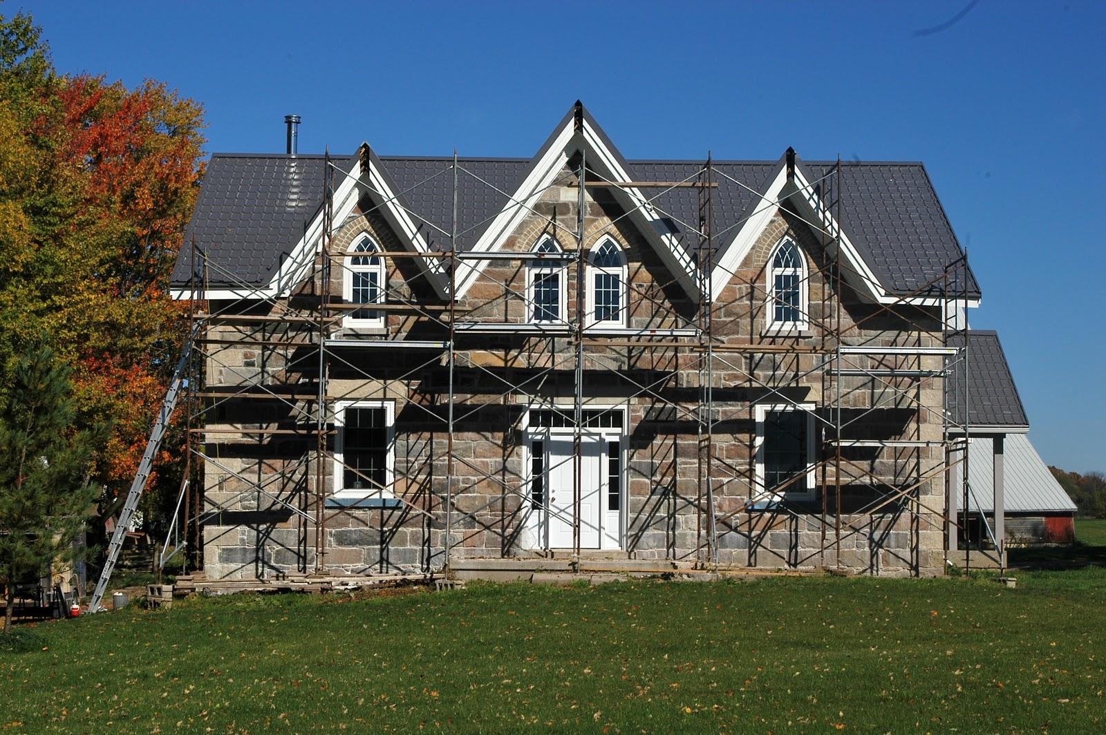 Simple Gothic Farmhouse Plans Placement Architecture