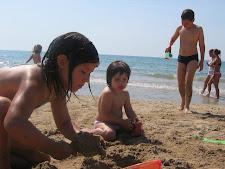 A la platja el maig del 2006