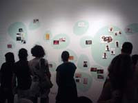 "The exhibitionists project at ""wish you were here"" show, A.I.R. Gallery, NYC"