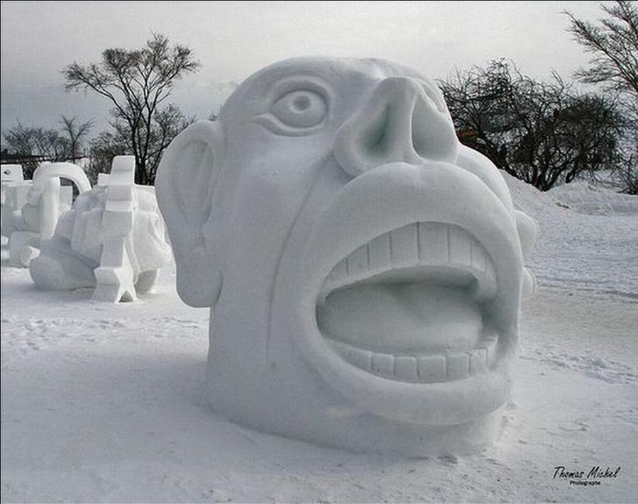 animal snow sculptures - photo #26