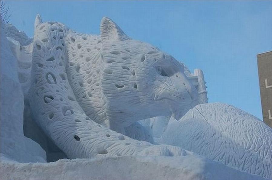 animal snow sculptures - photo #35