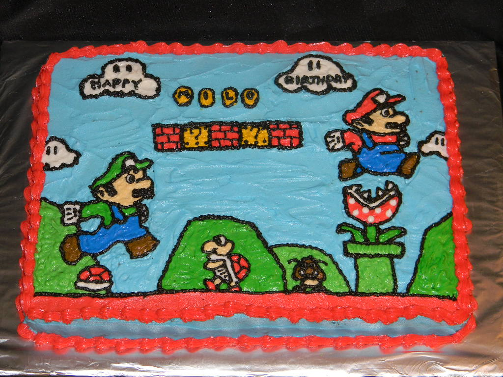 Brandys Creations Super Mario Bros Cake