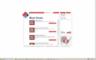 Domino's Pizza website