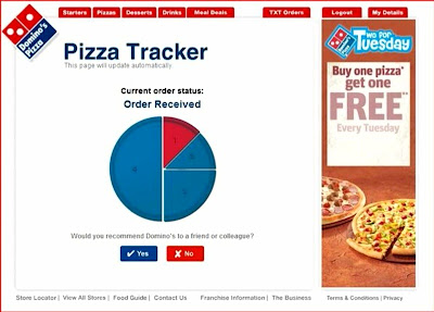 Dominos Huyton Pizza Tracker