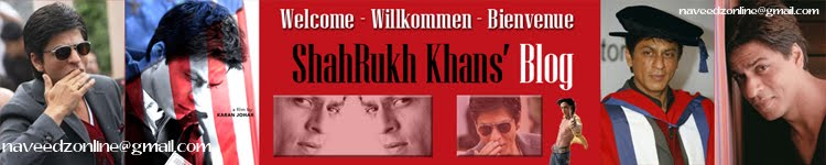 ::: Welcome To ShahRukh Khan News Blog (unofficial) :::