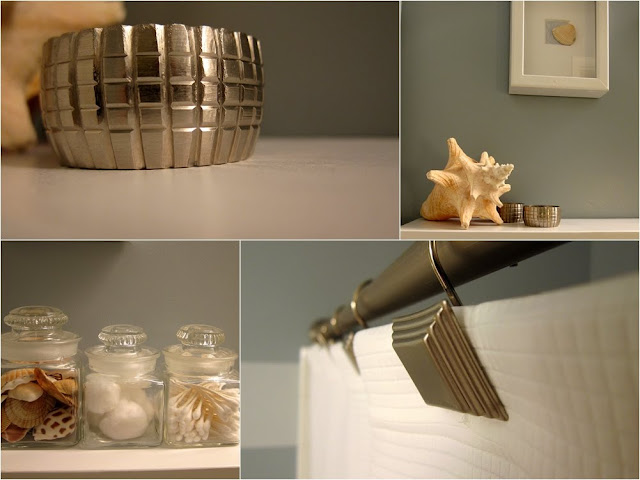 simple beachy bathroom accessories - madiganmade.com