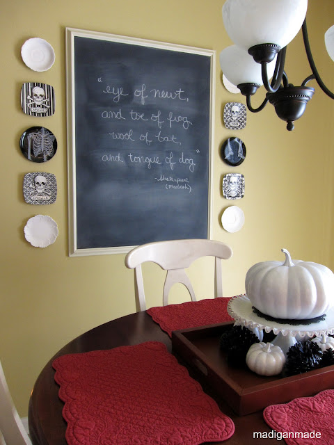 Halloween chalkboard quote - details at madiganmade.com