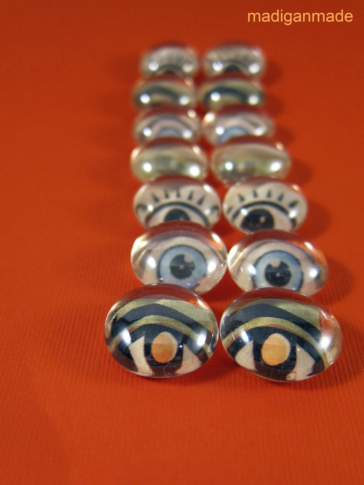 Flat glass marbles crafts - Flat Glass Marbles Crafts Simple And Easy Diy Glass Eyeballs Instructions At Madiganmade Com