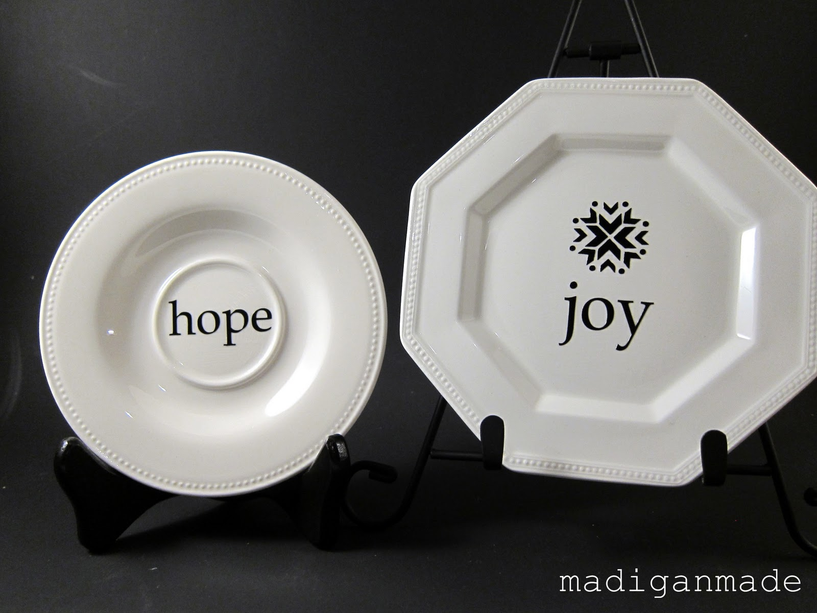 make your own decorative holiday plates