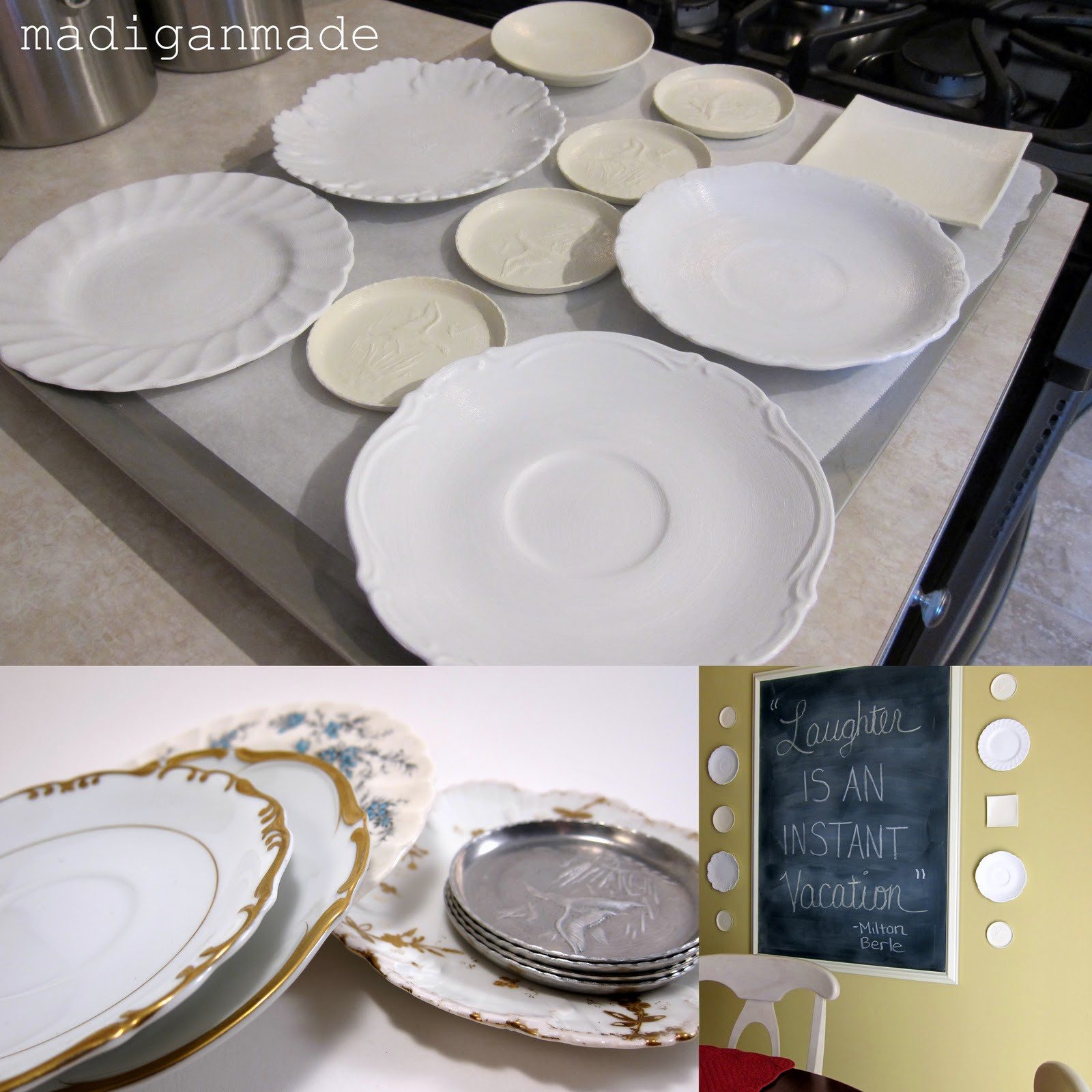My ode to white paint rosyscription for Diy ceramic plates