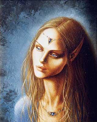 mirada de elfa enigmatica
