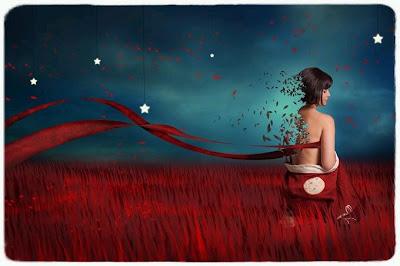 mujer deshojada al viento