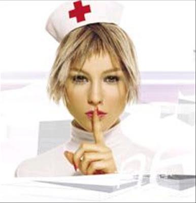 enfermera que pide silencio