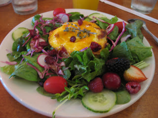 125++-+bacon+wrapped+baked+eggs+with+polenta+%26+mixed+field+greens ...