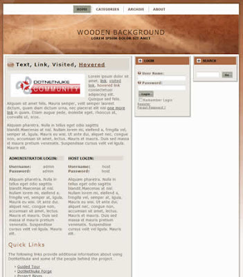 dnn skin with wooden background