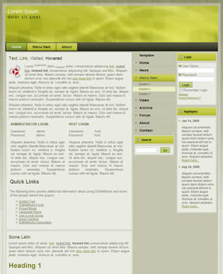 dnn skin for portal website
