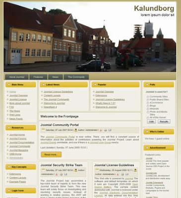 kalundborg joomla travel template
