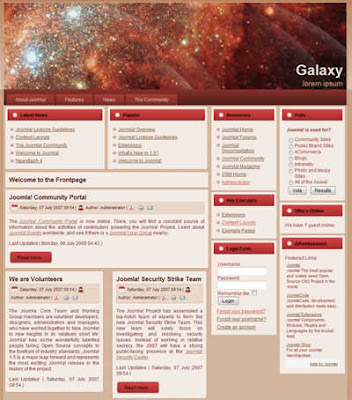 business joomla template galaxy