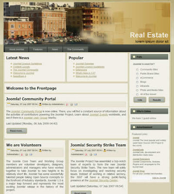 free joomla 1.5 realestate template