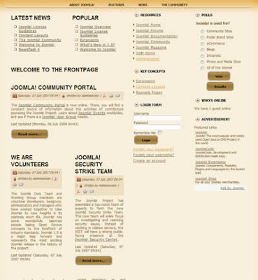 three column joomla 1.5 business template