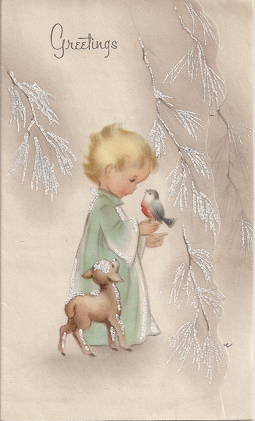altered heART works: Freebie For You - Vintage Christmas Card 1