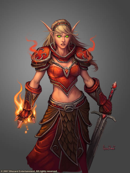 world of warcraft blood elf female. quot;Female Blood Elf Magequot; by