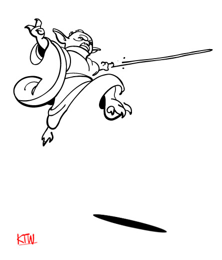 Line Drawing Yoda : How to carve roast unicorn star wars daily figure