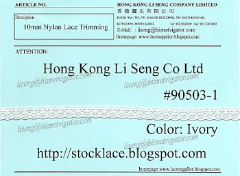 Nylon Lace Trimming Supplier - Hong Kong Li Sen Co Ltd