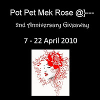 Pot Pet Mek Rose 2nd Anniversary