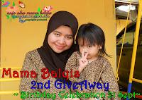 Mama Balqis 2nd Giveaway