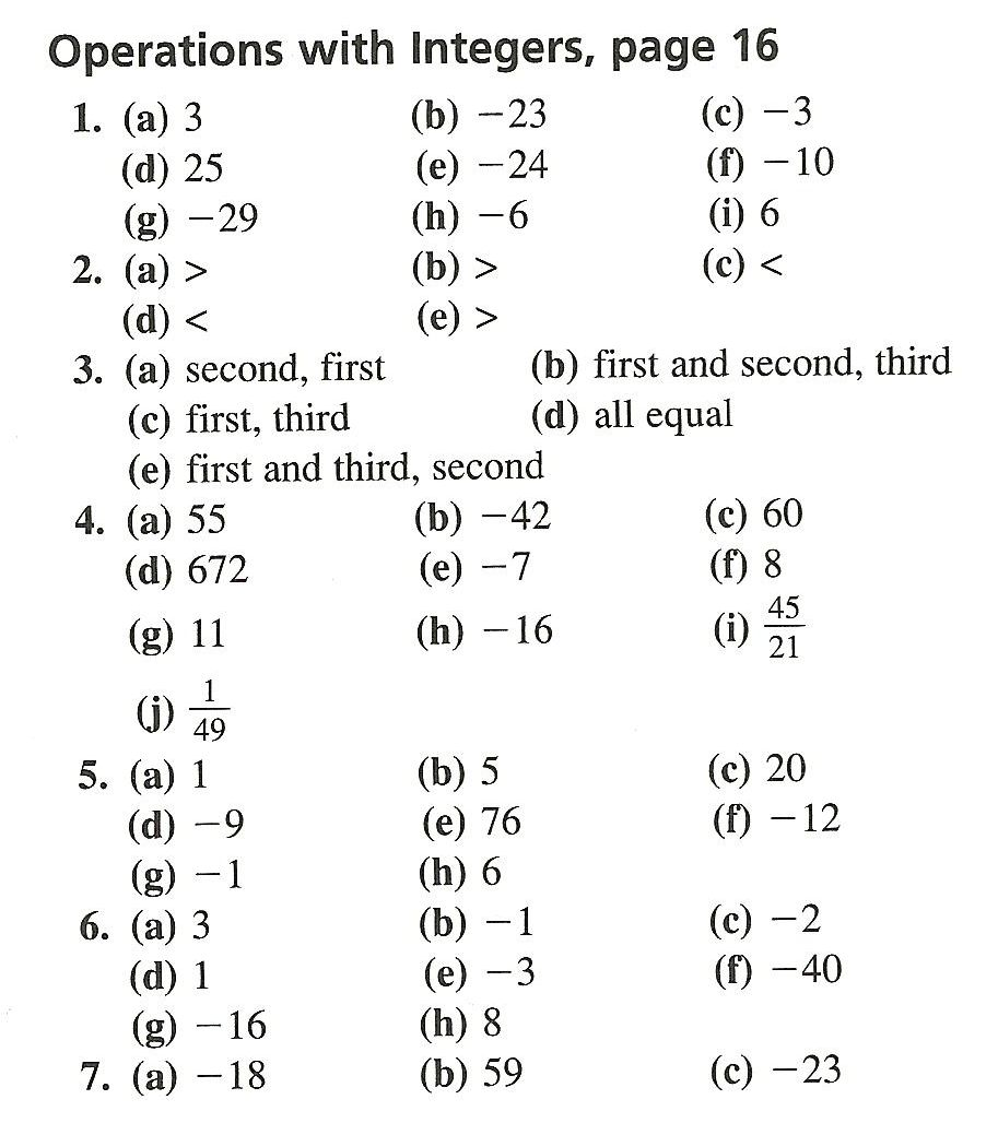 ... Adding And Subtracting Integers Worksheet With Answers. on positive