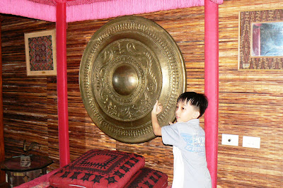 A gong in a Mindanao room in the Romualdez Museum