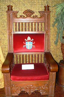 Pope John Paul II's seat during his visit to the Philippines