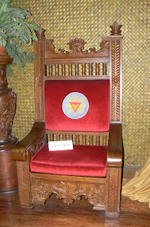 President Ferdinand Marcos' seat during Pope John Paul II's visit to the Philippines