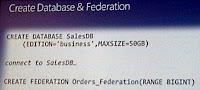 SQL Azure Federation
