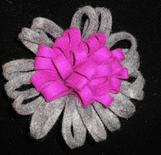 Broche de fieltro Flor