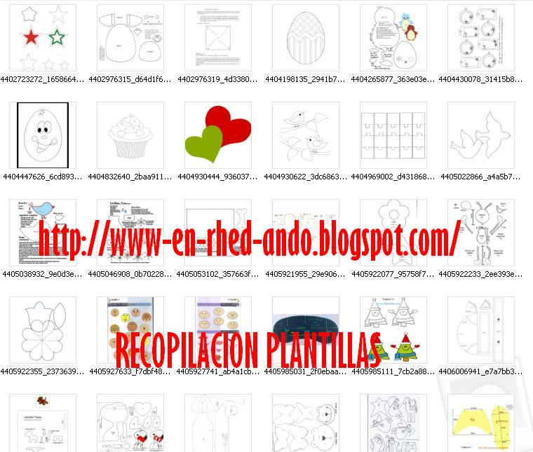 Moldes, patrones o plantillas para hacer figuras en fieltro